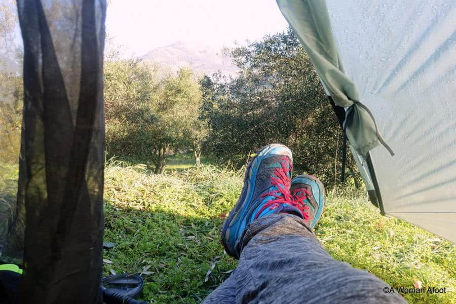 benefits of camping - alone time