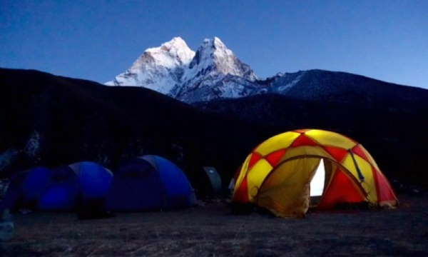 Mountain Climbing Base Camp Night