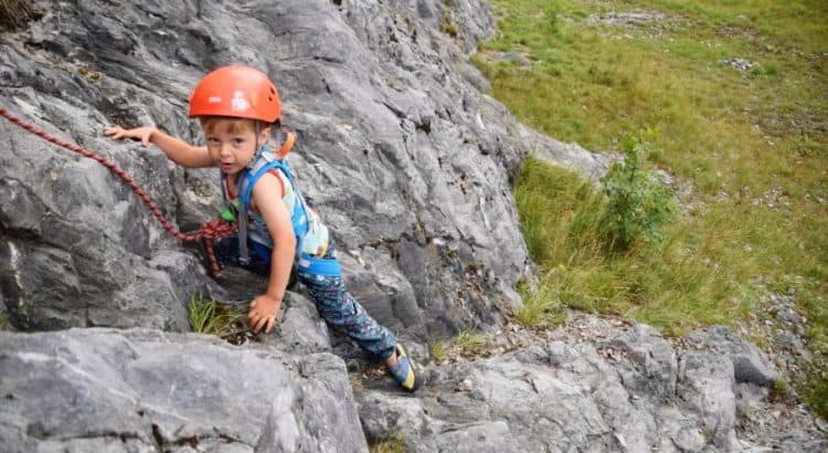 rock climbing for children featured