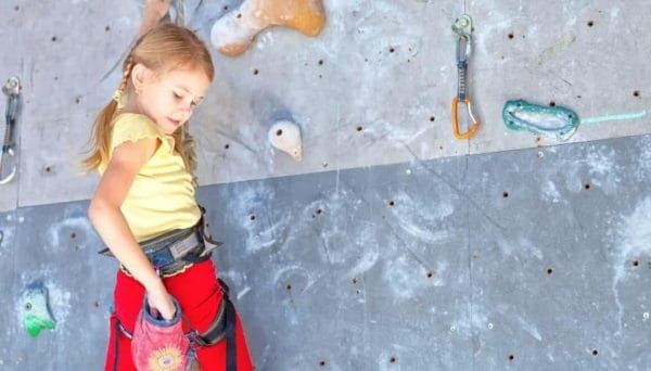 rock climbing for children on rock wall