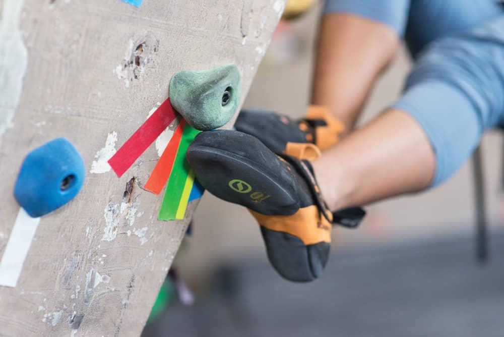 rock climbing feet