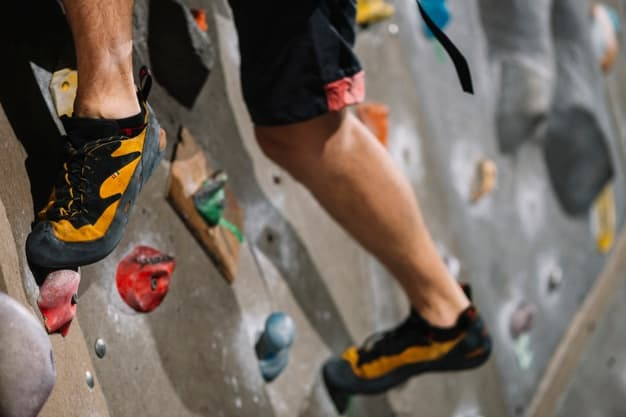 rock climbing legs